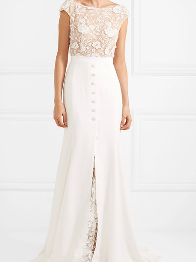 Sewell Lace And Crepe Gown