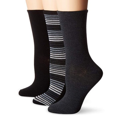 No Nonsense Women's Flat Knit Crew Sock (3 Pack)