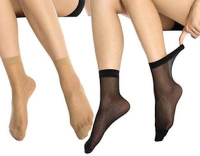 MANZI 12 Pairs Women's Ankle High Sheer Socks (12 Pack)