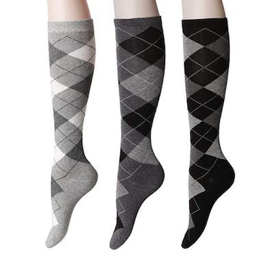 OSABASA Womens Casual Knee High Socks (2 Pack)