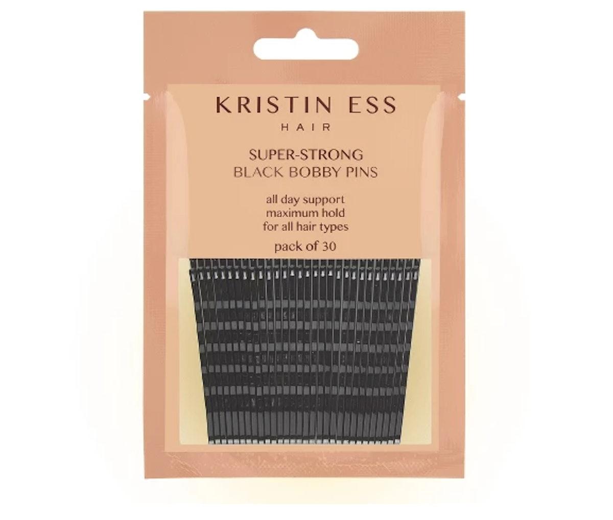 Kristin Ess Super-Strong Black Bobby Pins - 30ct