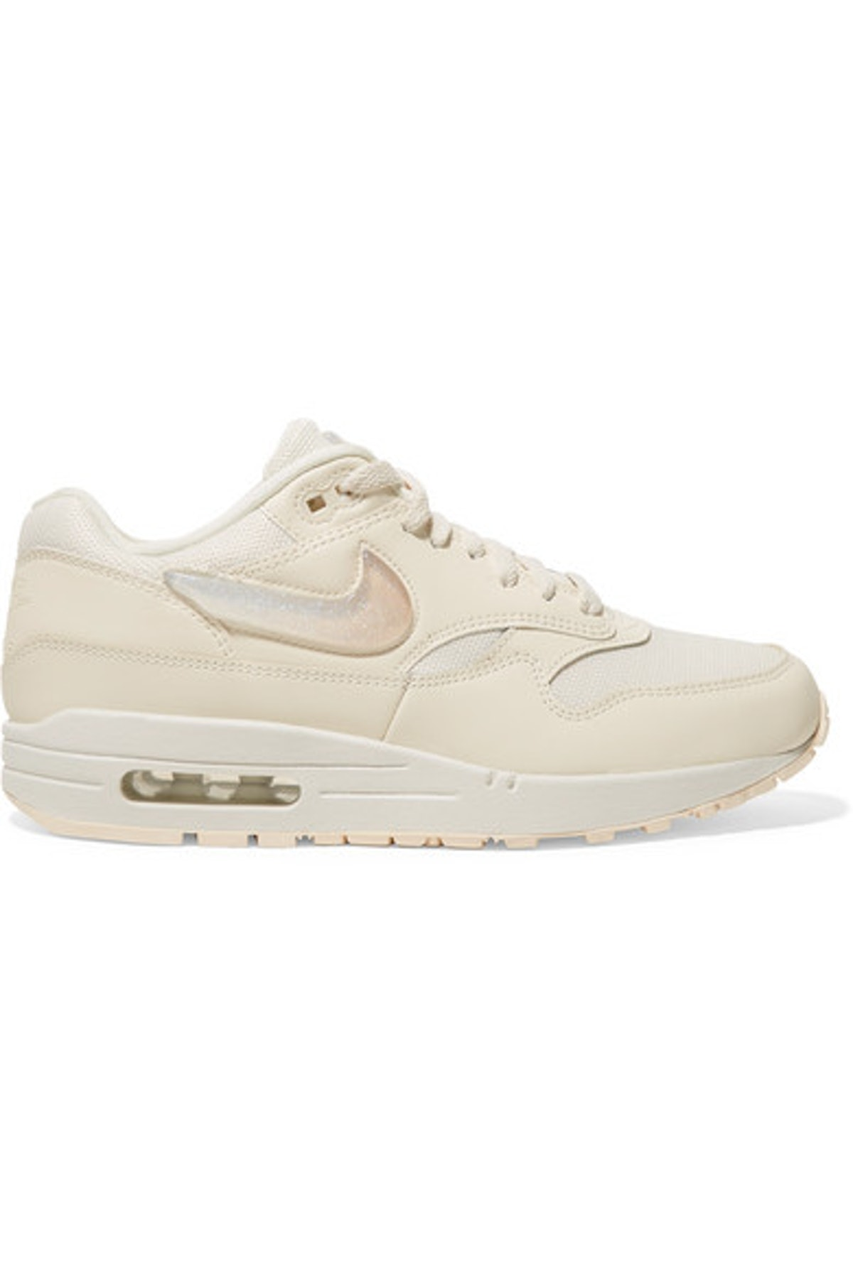 Air Max I Leather and Canvas Sneakers