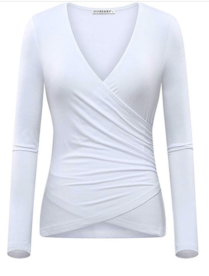 GUBERRY Women's Long Sleeve Cross Wrap