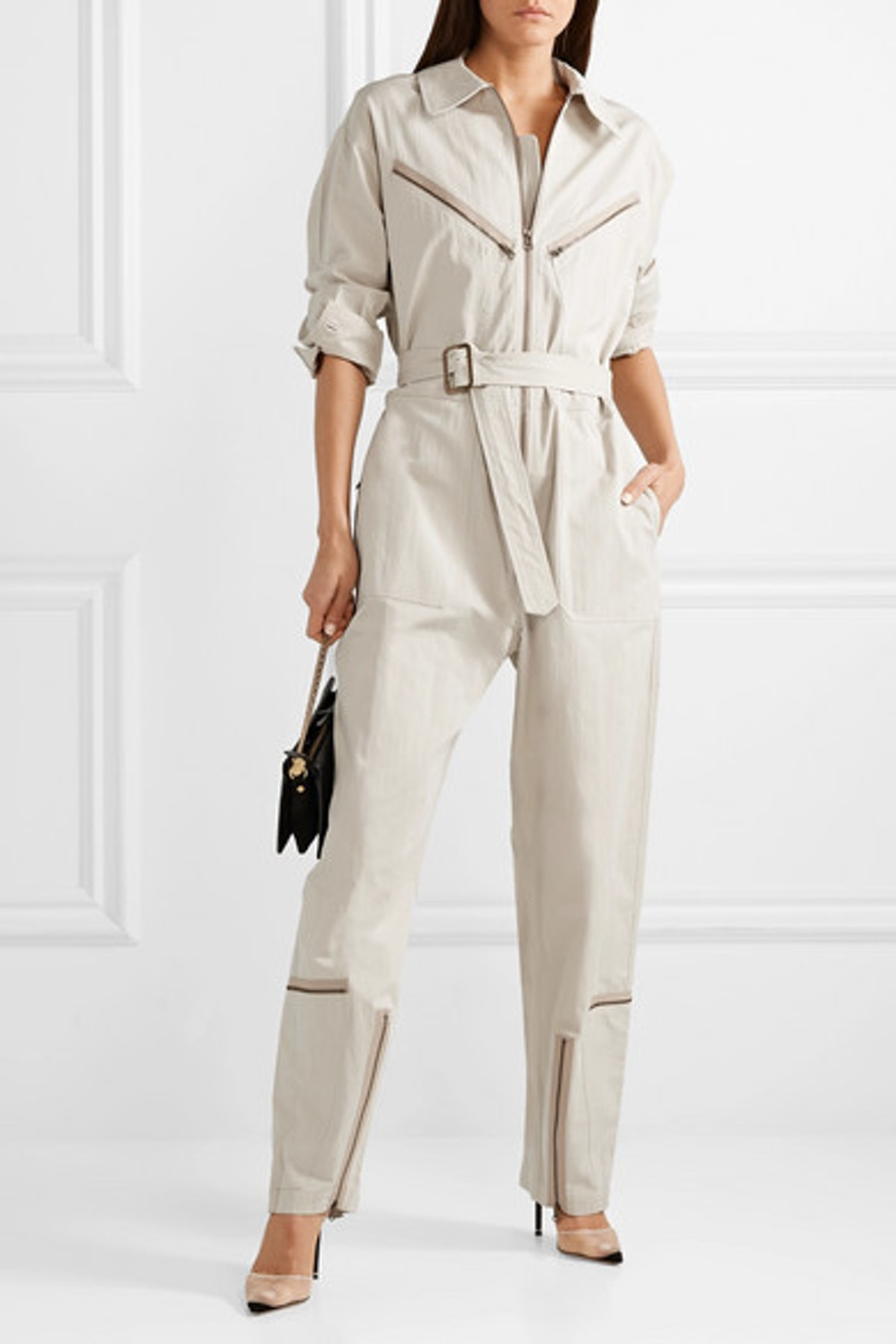 Pigalle Cotton-Blend Twill Jumpsuit