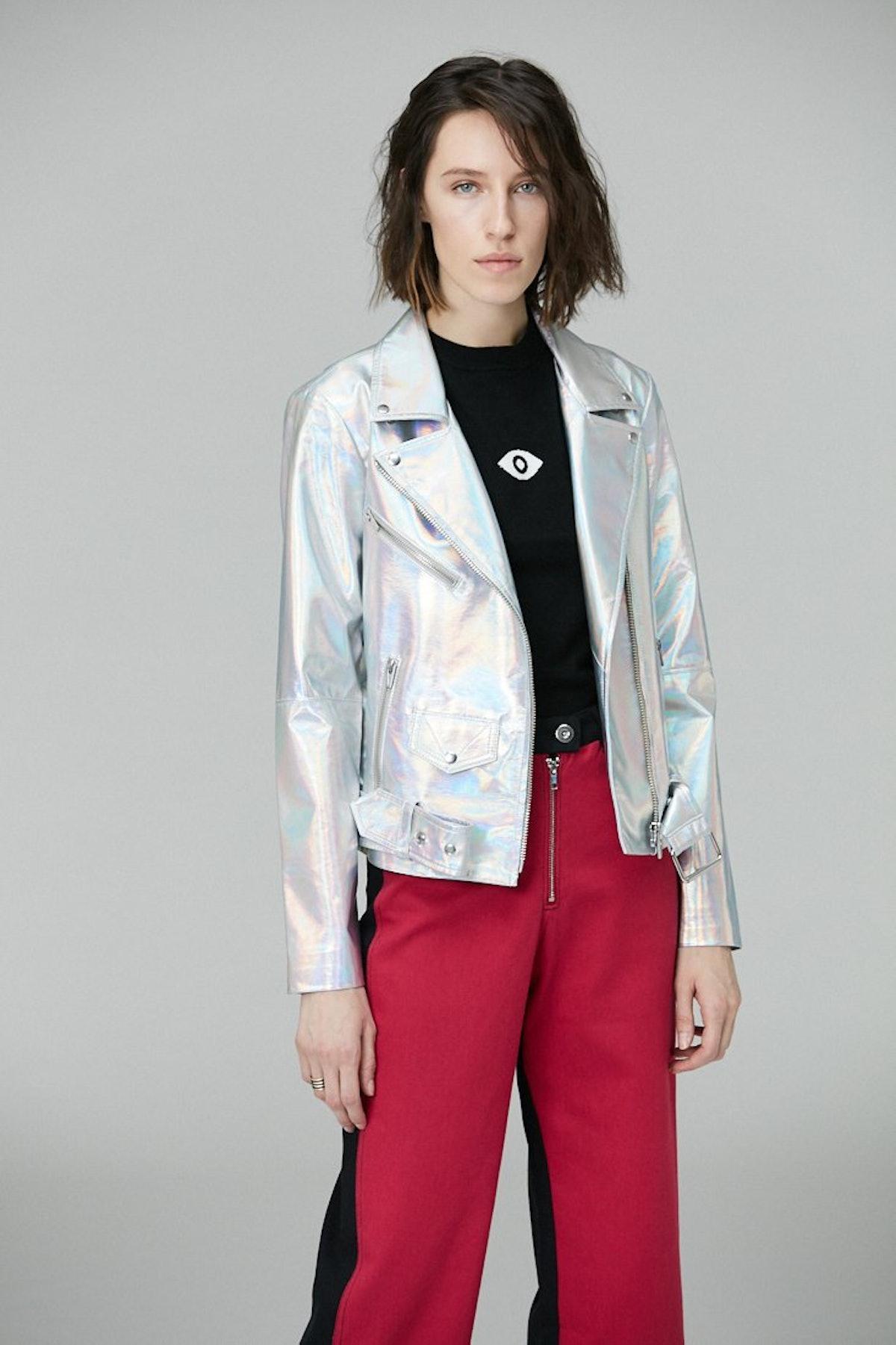Jayne Holographic Moto Jacket