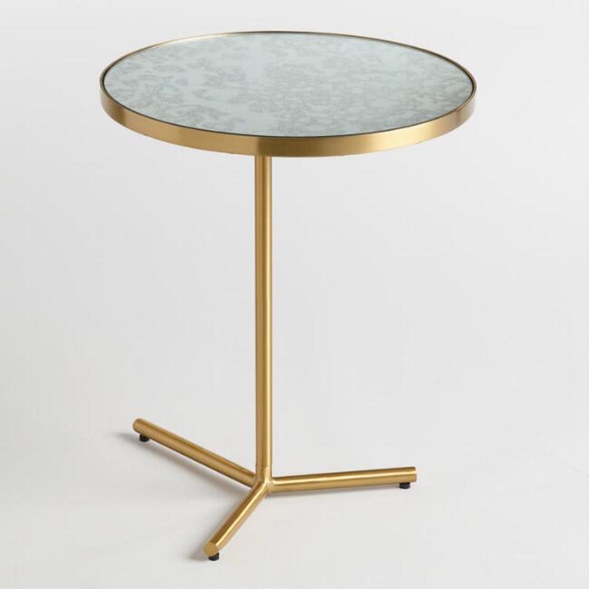 Antique Mirror Beau Accent Table