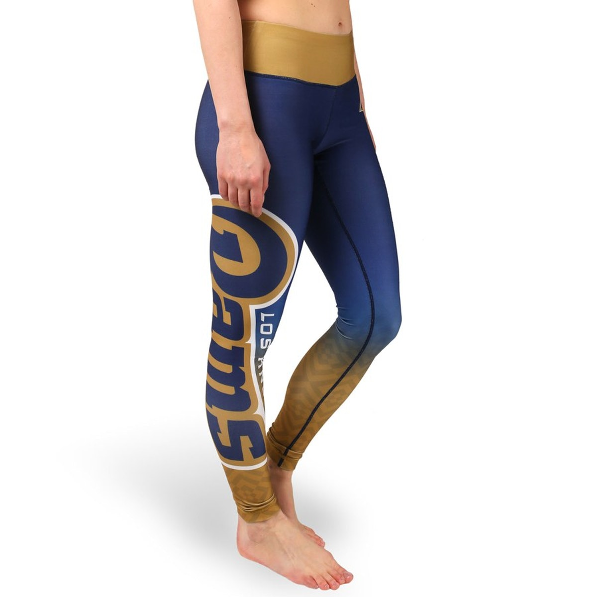 Women's Klew Navy Los Angeles Rams Gradient Leggings