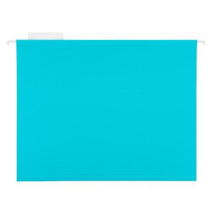 Turquoise Letter-Size Hanging File Folders Pkg/6