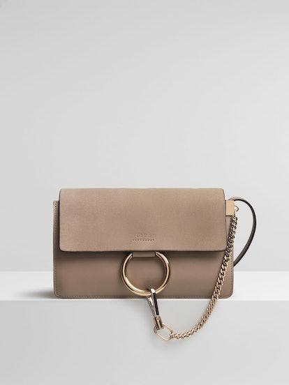 Faye Small Shoulder Bag, Motty Grey