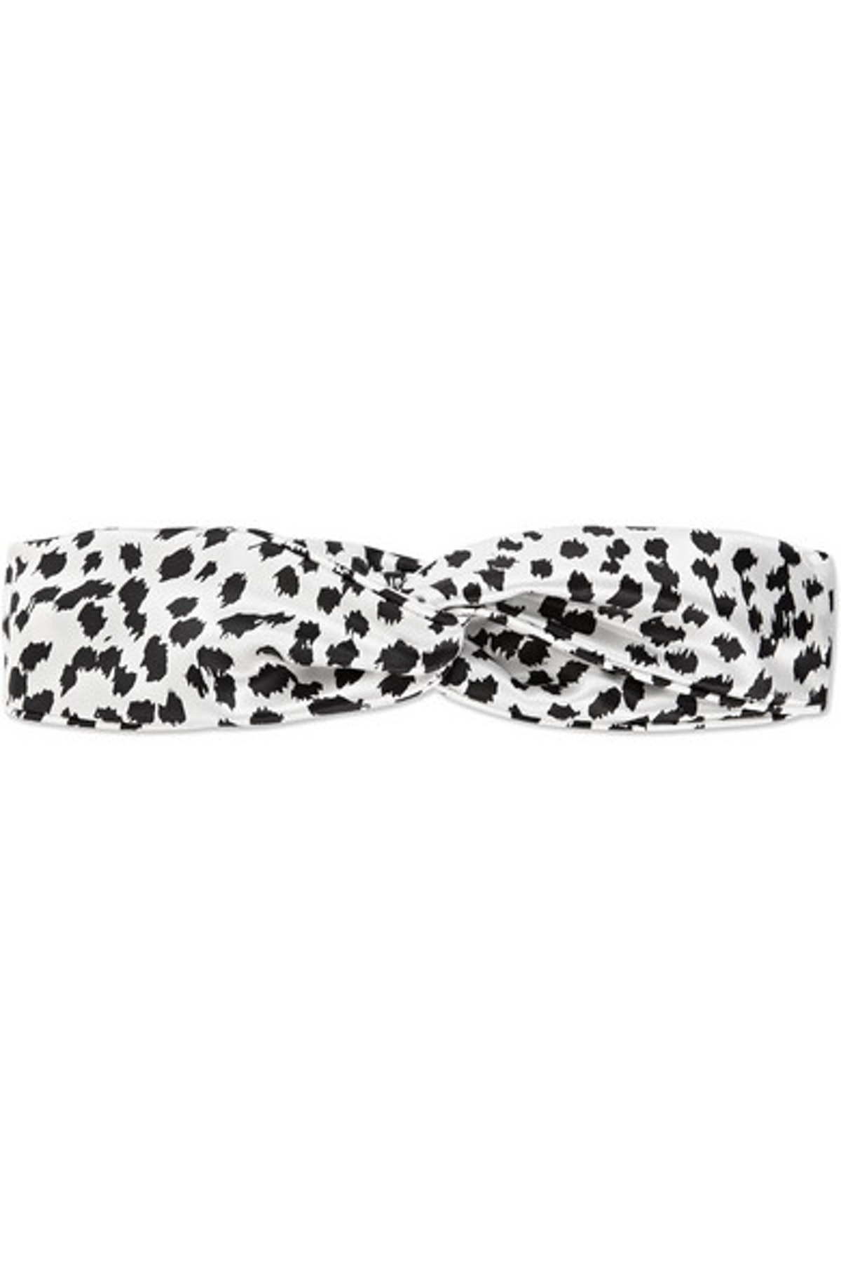 Slip Twist Leopard Print Silk Headband