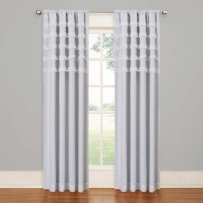 SolarShield Rihanna Rod Pocket Room Darkening Window Curtain Panel
