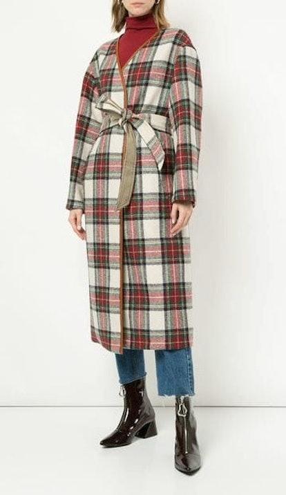 Tartan Belted Coat