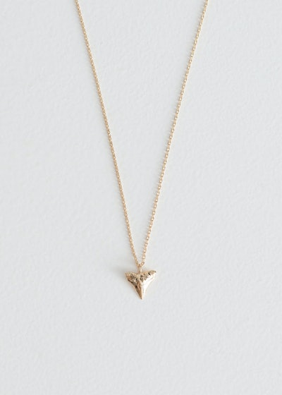& other stories Shark Tooth Pendant Necklace
