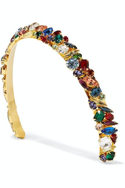 Lelet NY Gold Plated Swarovski Crystal Headband