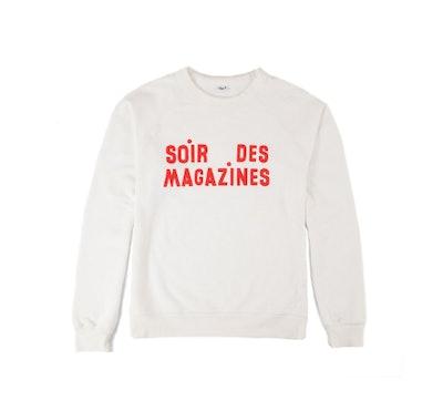 Sweatshirt, White W/Red Magazines