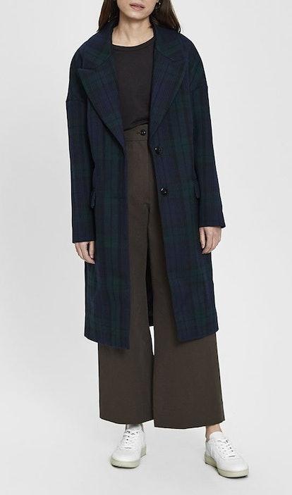 Darlene Long Tartan Coat