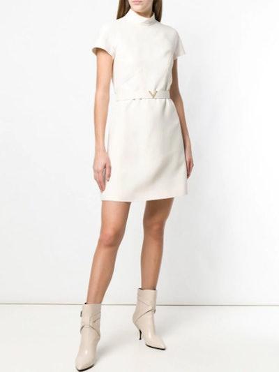 V Belted Dress