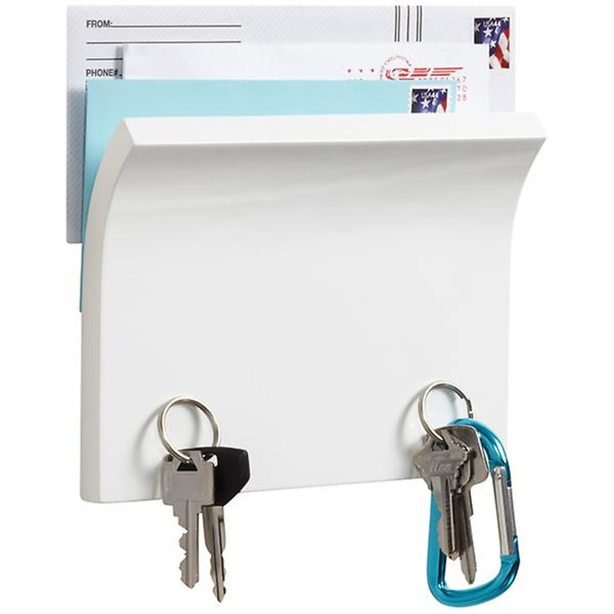 Umbra Piano White Magnetter Key & Letter Holder