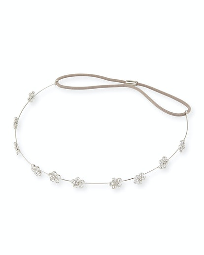 Jennifer Behr Crystal Flower Circlet Headband