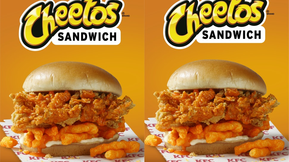 Image result for KFC Cheeto Sandwich