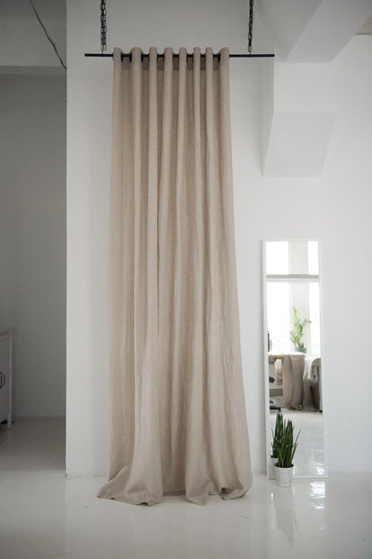 Blackout Linen Curtains With Grommets