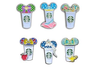 Princess Starbucks Cup Pin Pack (6 Pins)