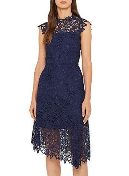 Ivana Asymmetric Lace Dress
