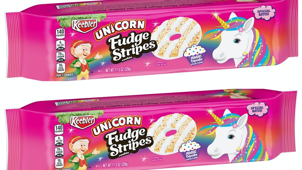 Keeblers Unicorn Fudge Stripe Cookies Are A Rainbow Sprinkled Daydream