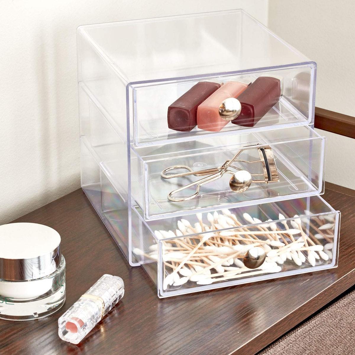 InterDesign 3-Drawer Storage Container with Knobs