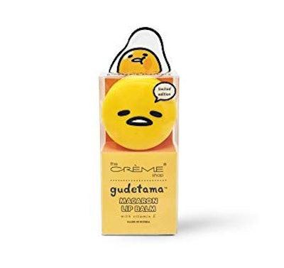 The Crème Shop x Sanrio Hello Kitty Macaron Lip Balm (Gudetama Pineapple Sherbert)