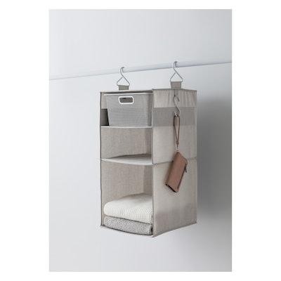 3 Shelf Hanging Fabric Storage Organizer Light Gray - Made By Design