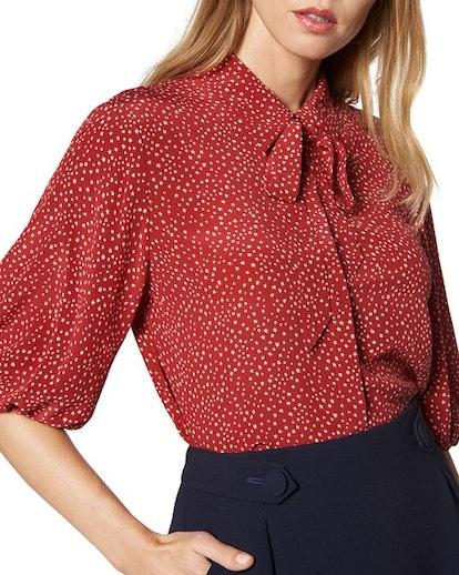 Tillila Silk Mini-Star-Print Blouse