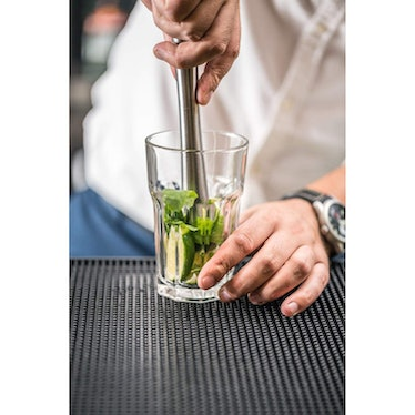 Stainless Steel Cocktail Muddler and Mixing Spoon