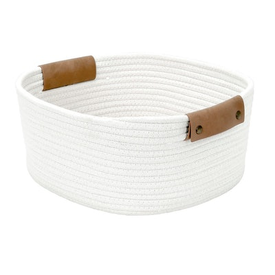 "13"" Square Base Tapered Basket Small Cream - Threshold"