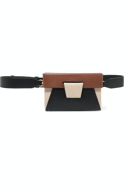 Lola Color-Block Leather Belt Bag