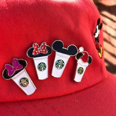 Mickey Starbucks Cup Pin Pack (4 Pins)