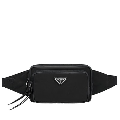 Nylon and Leather Belt Bag