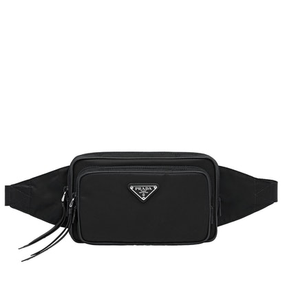Nylon and Leather Belt Bag