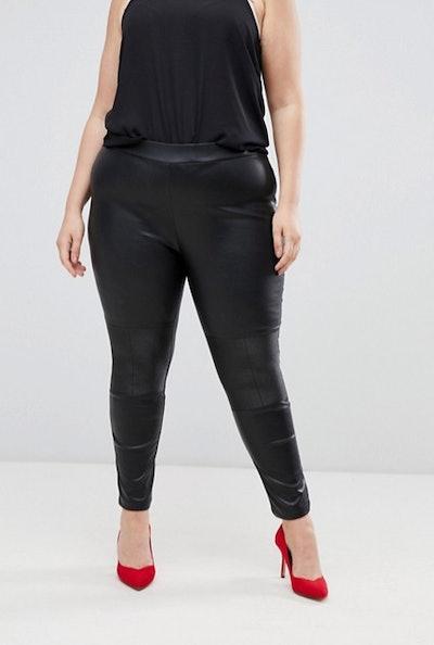 Lovedrobe Pu Biker Legging in Black