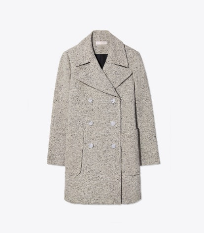 Kinsley Coat in 101 Rustic Linen Wool