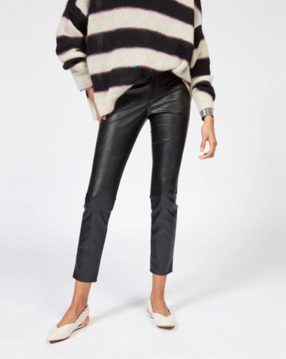 Zeffery Faux Leather Leggings