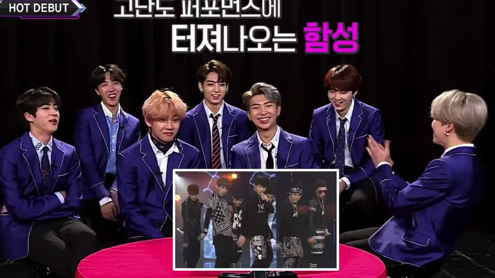 The Video Of BTS Reacting To Their 'M Countdown' Debut