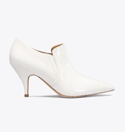 Georgina Patent Bootie in White
