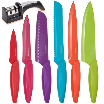 LUCENTEE Stainless Steel Kitchen Knife Set (Set of 6)