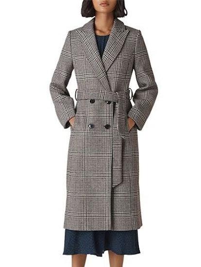 Penelope Belted Check Coat