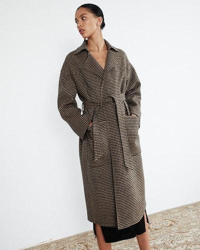 Robe Coat in Check