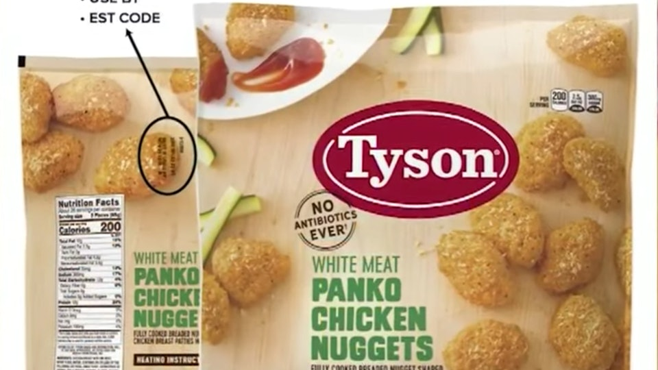 Tyson Recalls These Chicken Nuggets Because They May Contain Rubber