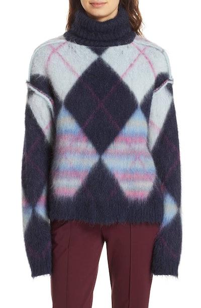 DVF Mohair & Alpaca Blend Turtleneck Sweater
