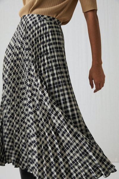 Arket Pleated Satin Skirt