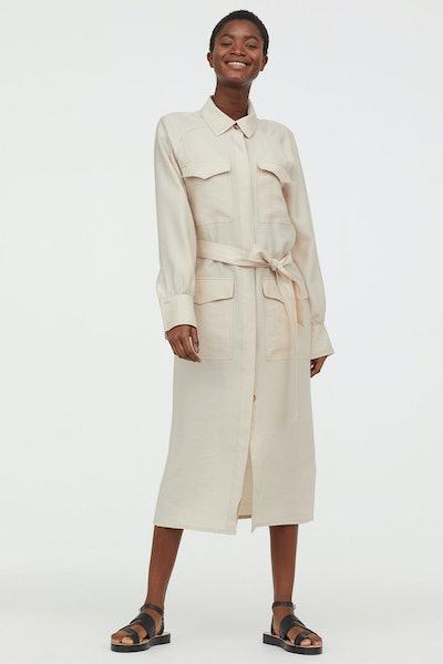 H&M Conscious Collection Lyocell-blend shirt dress